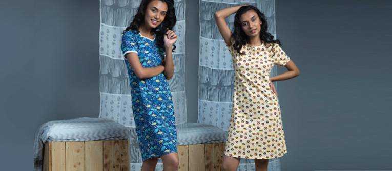 cute and comfy printed night dress