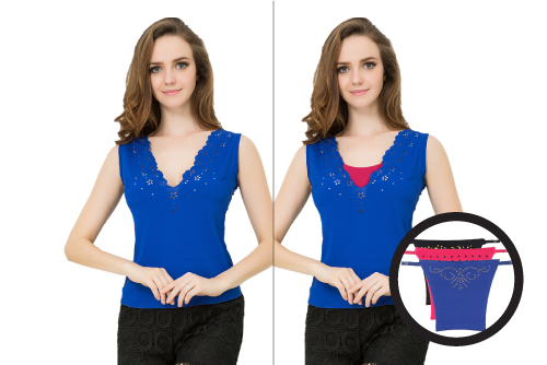 How to Cover Deep Neck Tops