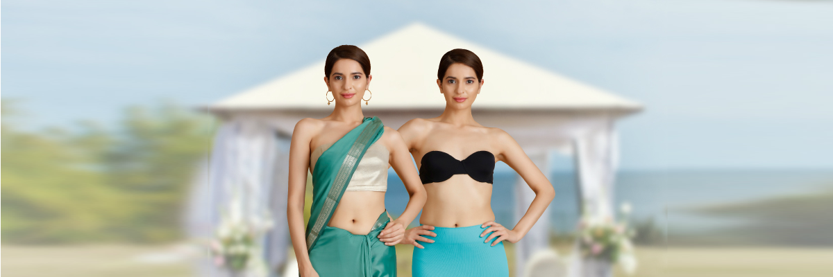 5ae99b8efc What you wear inside your saree can make or break the whole look.  Everybody s go-to for years has been the drawstring saree petticoat –  something your ...
